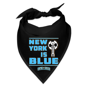 NY is BLUE - Men's Hoodie, Black - Bandana