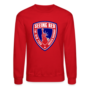 Seeing Red - Men's Hoodie, Red - Crewneck Sweatshirt