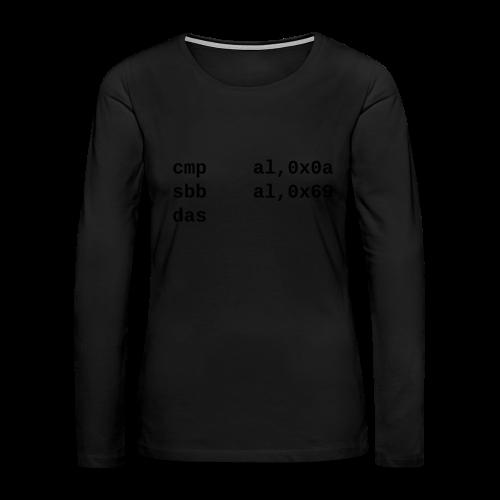 das_female - Women's Premium Long Sleeve T-Shirt