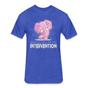 Intervention - Fitted Cotton/Poly T-Shirt by Next Level