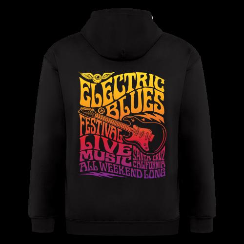 Electric Blues - Men's Zip Hoodie