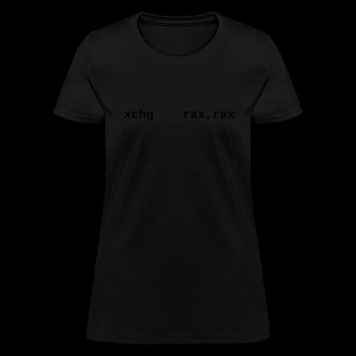 xchg_rax_rax_female - Women's T-Shirt