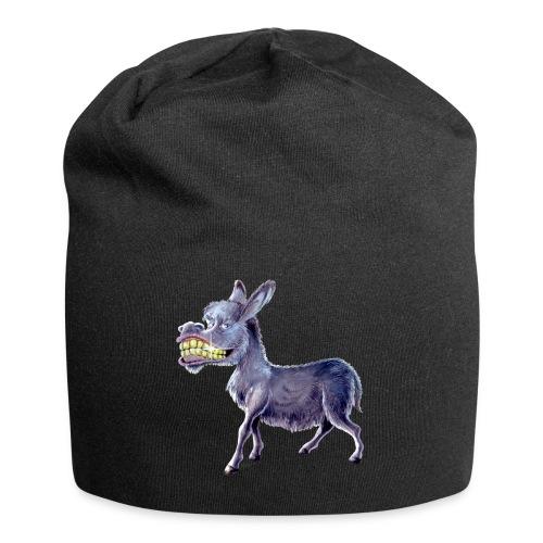 Funny Keep Smiling Donkey - Jersey Beanie