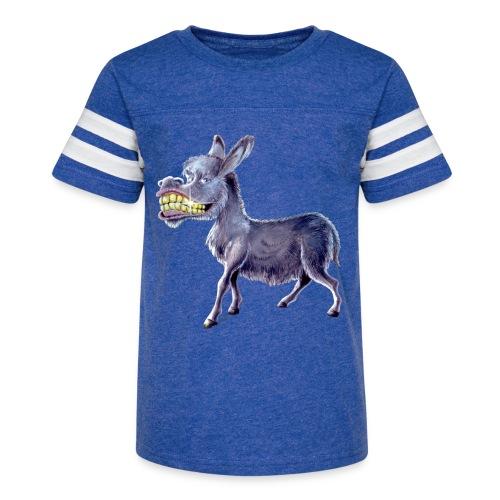 Funny Keep Smiling Donkey - Kid's Vintage Sport T-Shirt