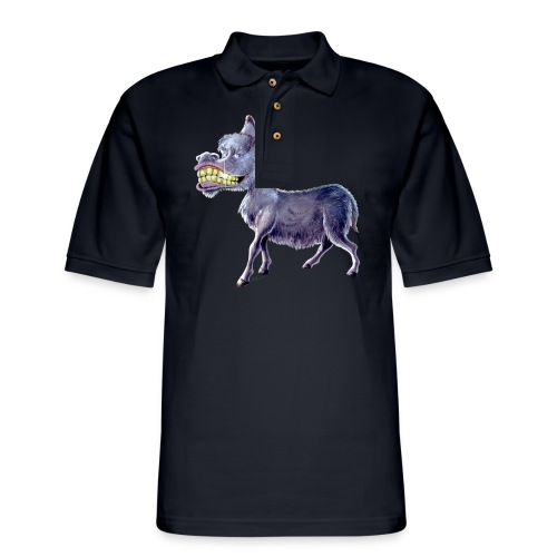 Funny Keep Smiling Donkey - Men's Pique Polo Shirt