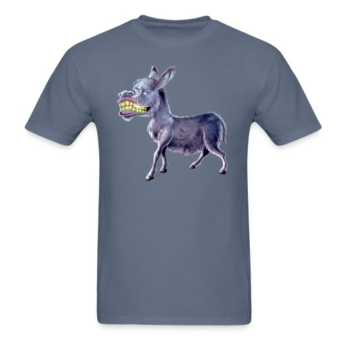 Funny Keep Smiling Donkey - Men's T-Shirt