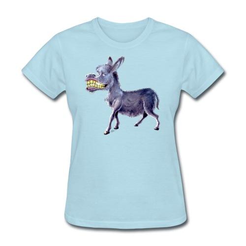 Funny Keep Smiling Donkey - Women's T-Shirt