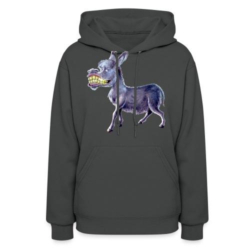 Funny Keep Smiling Donkey - Women's Hoodie
