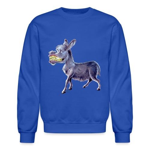 Funny Keep Smiling Donkey - Crewneck Sweatshirt