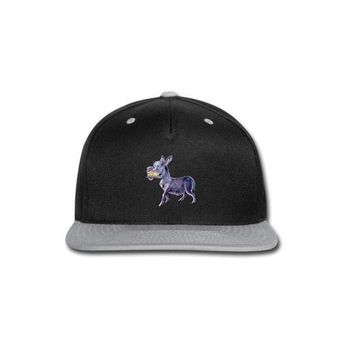 Funny Keep Smiling Donkey - Snap-back Baseball Cap