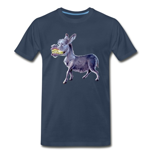 Funny Keep Smiling Donkey - Men's Premium T-Shirt