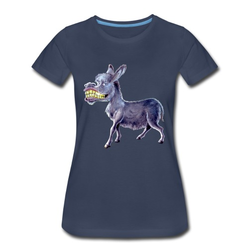 Funny Keep Smiling Donkey - Women's Premium T-Shirt