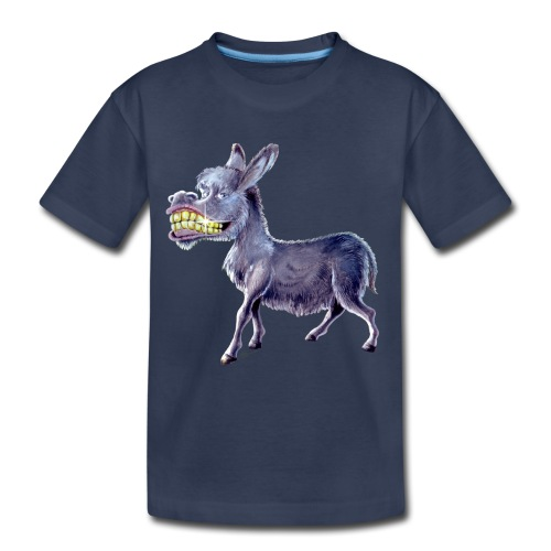 Funny Keep Smiling Donkey - Kids' Premium T-Shirt