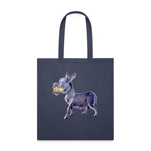 Funny Keep Smiling Donkey - Tote Bag