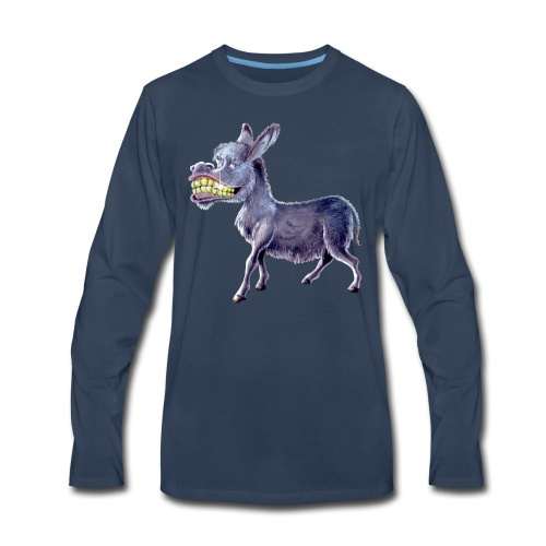 Funny Keep Smiling Donkey - Men's Premium Long Sleeve T-Shirt