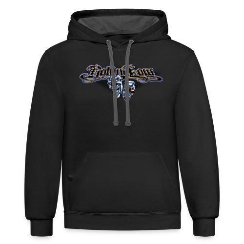 Rollin Low - Smile Cry Masks - Contrast Hoodie