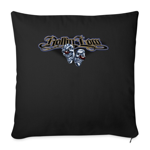 """Rollin Low - Smile Cry Masks - Throw Pillow Cover 18"""" x 18"""""""