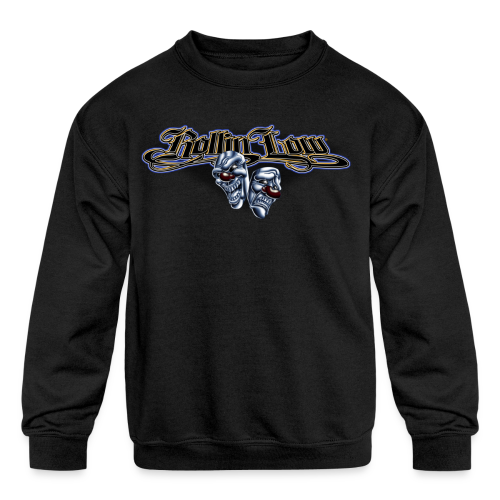 Rollin Low - Smile Cry Masks - Kids' Crewneck Sweatshirt