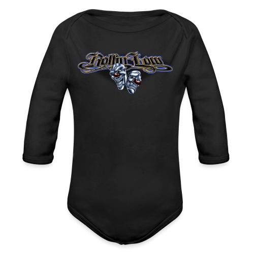 Rollin Low - Smile Cry Masks - Organic Long Sleeve Baby Bodysuit