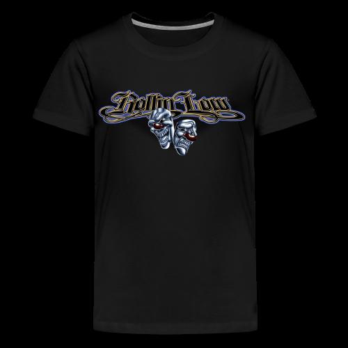 Rollin Low - Smile Cry Masks - Kids' Premium T-Shirt