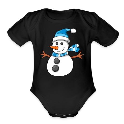 SnowMan - Kid Hoodie - Organic Short Sleeve Baby Bodysuit