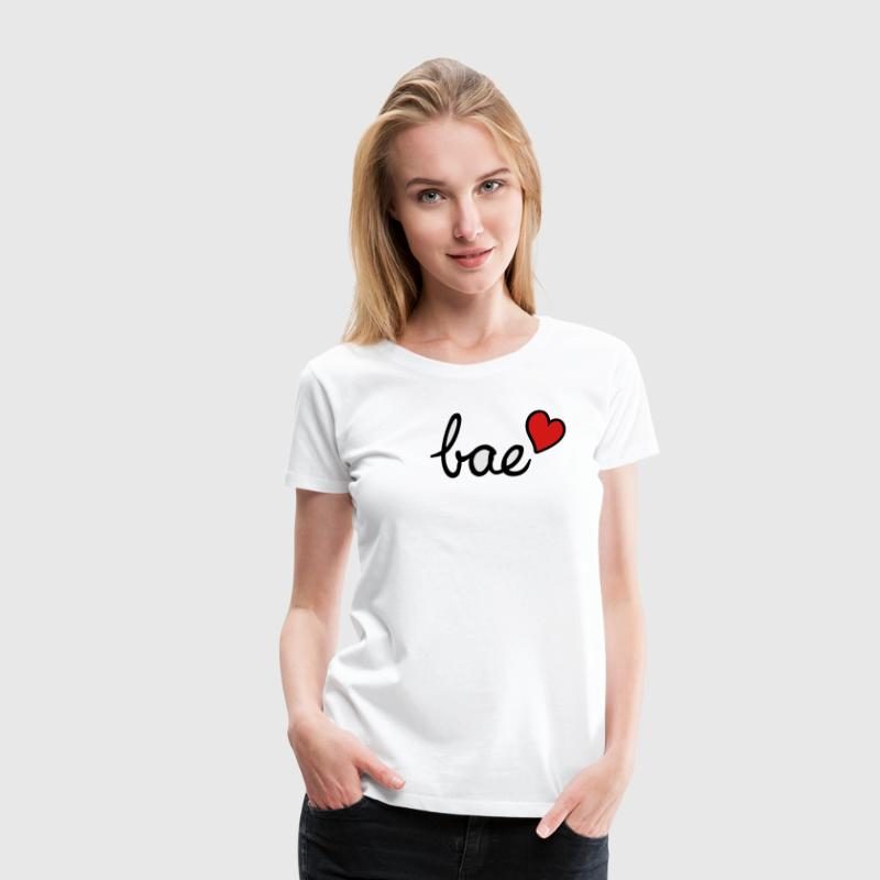 Bae & red heart - Women's Premium T-Shirt