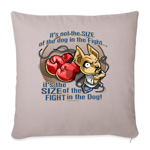 """Rollin Low - Dog in the Fight - Throw Pillow Cover 18"""" x 18"""""""