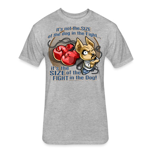 Rollin Low - Dog in the Fight - Fitted Cotton/Poly T-Shirt by Next Level