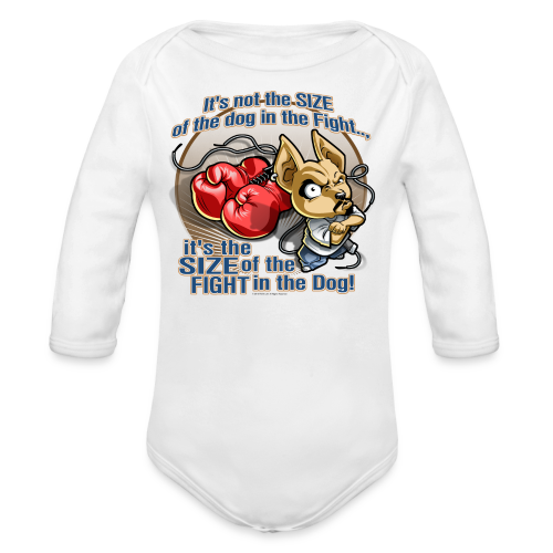 Rollin Low - Dog in the Fight - Organic Long Sleeve Baby Bodysuit