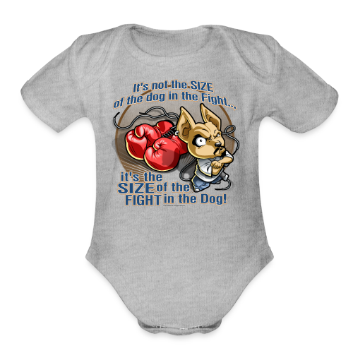 Rollin Low - Dog in the Fight - Organic Short Sleeve Baby Bodysuit