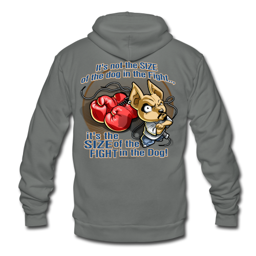 Rollin Low - Dog in the Fight - Unisex Fleece Zip Hoodie