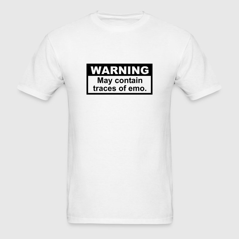 Warning: May contain traces of Emo T-SHIRT - Men's T-Shirt