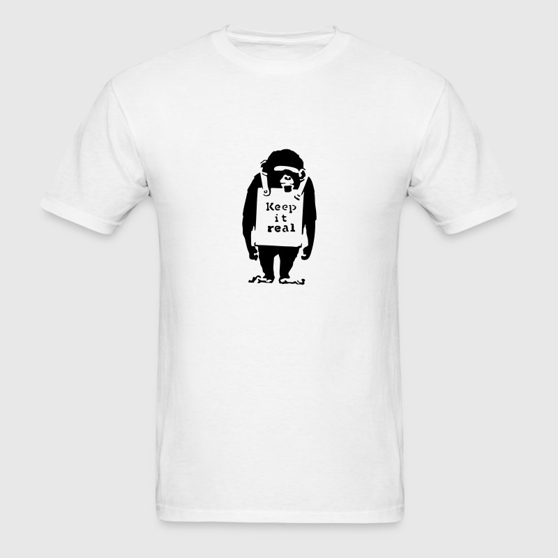 Banksy Keep it Real Monkey T-SHIRT - Men's T-Shirt