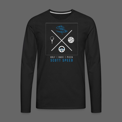 Golf, Race, Pizza - Speed Life - Men's Premium Long Sleeve T-Shirt