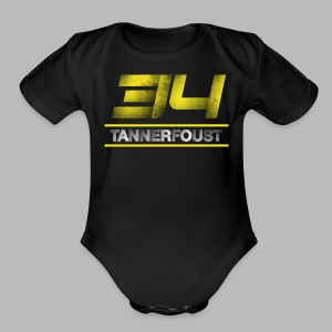 Women's Tanner Foust 34 Distressed Tee - Yellow - Short Sleeve Baby Bodysuit