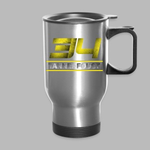 Women's Tanner Foust 34 Distressed Tee - Yellow - Travel Mug