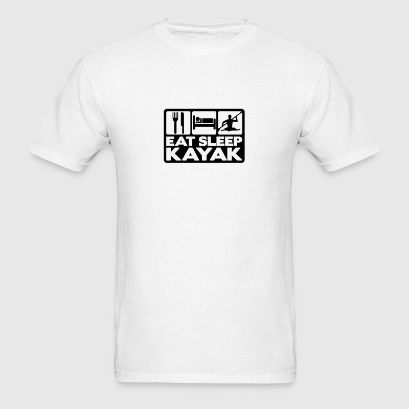 eat sleep kayak 02 T-SHIRT - Men's T-Shirt