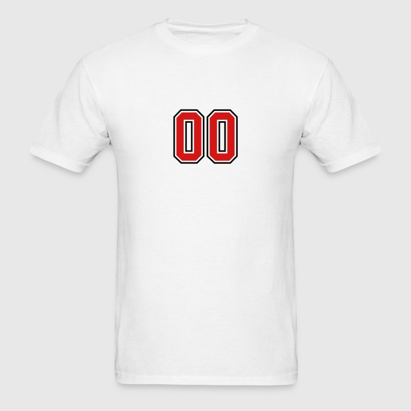 00 sports jersey football number T-SHIRT - Men's T-Shirt