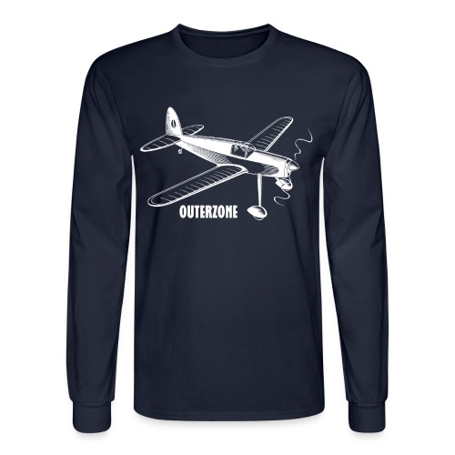 Outerzone, white logo - Men's Long Sleeve T-Shirt