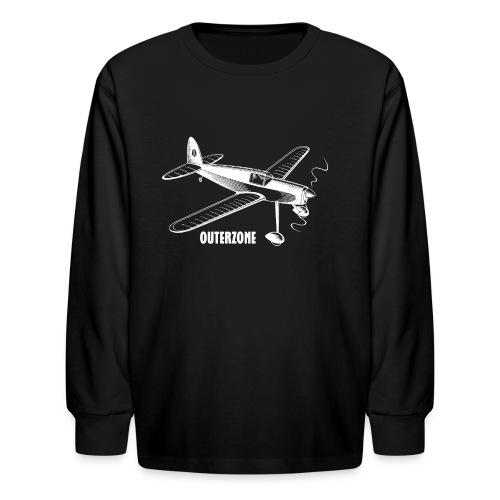 Outerzone, white logo - Kids' Long Sleeve T-Shirt