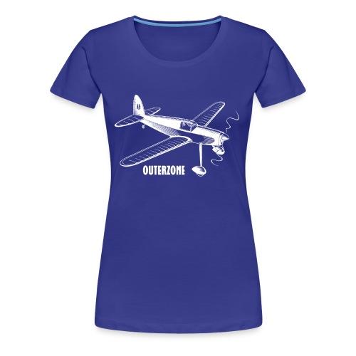 Outerzone, white logo - Women's Premium T-Shirt