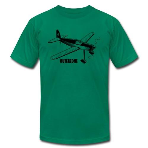 Outerzone, black logo - Men's Fine Jersey T-Shirt