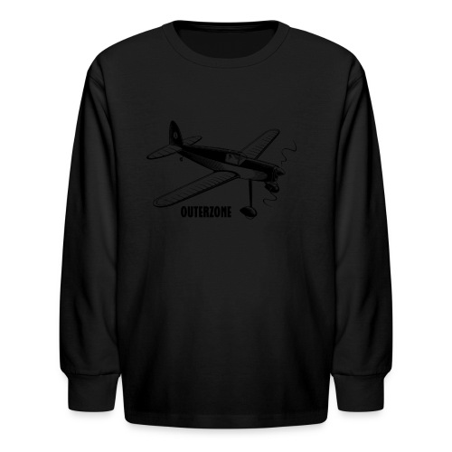 Outerzone, black logo - Kids' Long Sleeve T-Shirt
