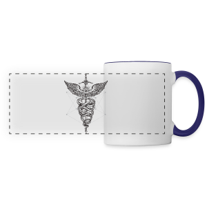 Caduceus_Black - Panoramic Mug