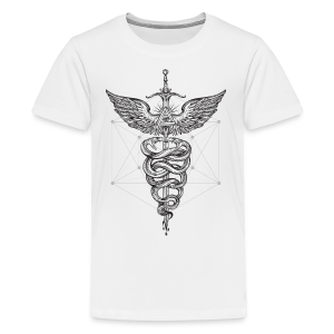 Caduceus_Black - Kids' Premium T-Shirt