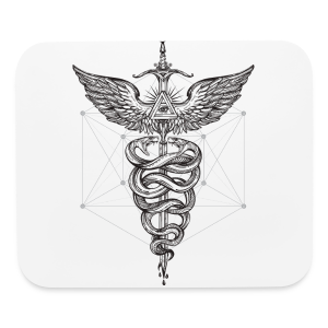 Caduceus_Black - Mouse pad Horizontal
