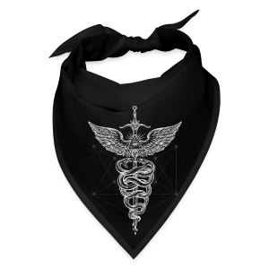 Caduceus-White - Bandana