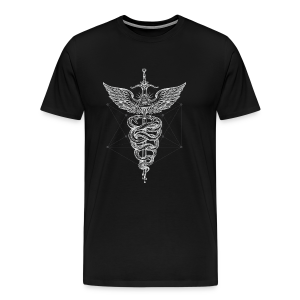 Caduceus-White - Men's Premium T-Shirt
