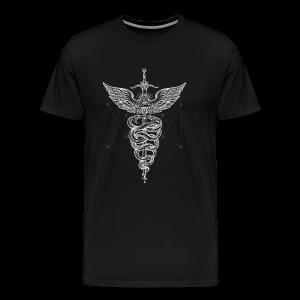 Caduceus-White - Men's Premium T-Shirt