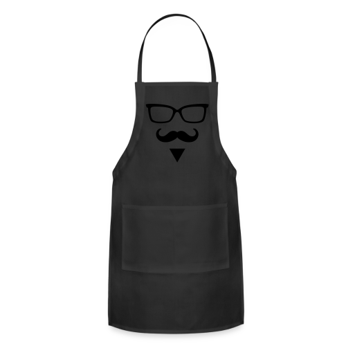 Hipster Sunglasses triangle Face Mustache Beard - Adjustable Apron